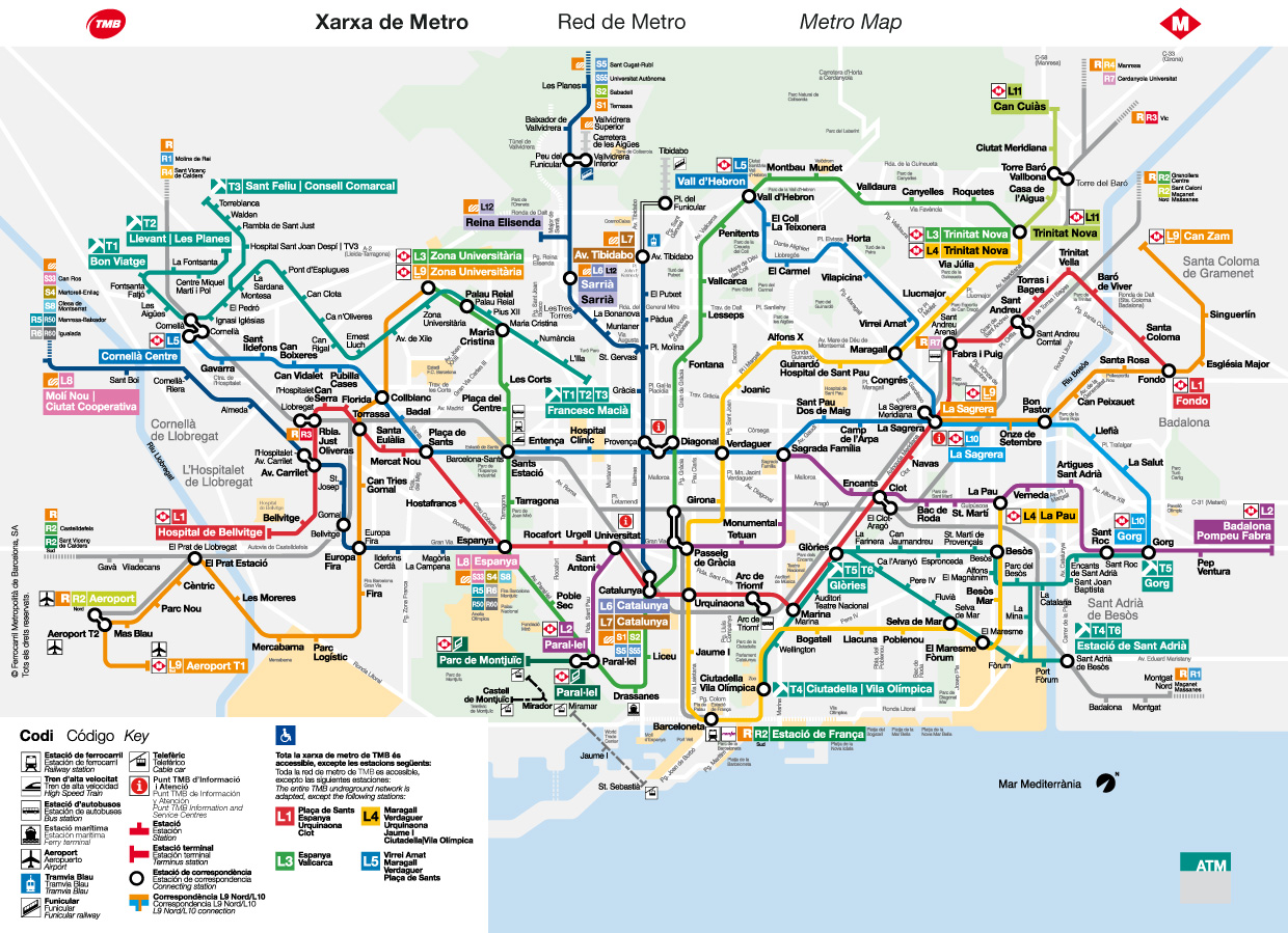 Travel With Us Public Transportation In Barcelona