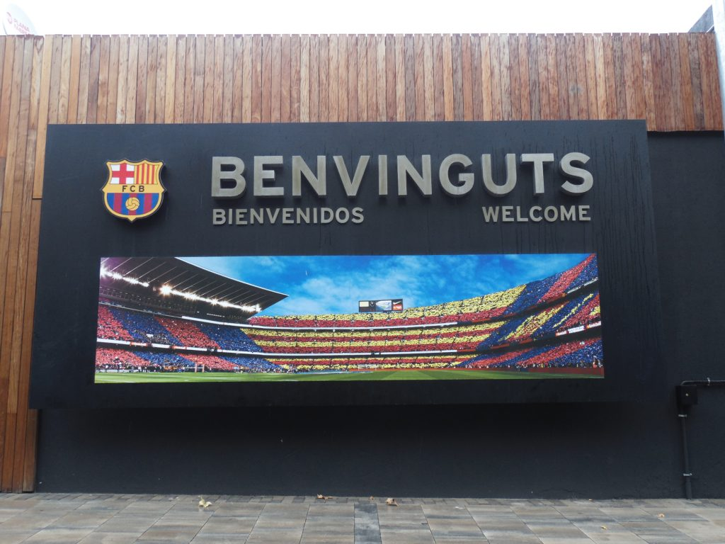Entrance to Camp Nou experience